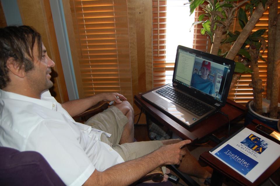 teaching kris on skype
